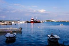 Fiskarefjärd av Yalova Turkiet Arkivfoton