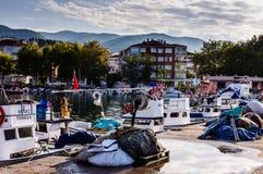 Fiskarefjärd av Yalova Turkiet Arkivfoto