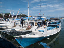 Fiskarehamn i Makassar Royaltyfri Bild