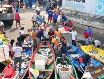 fiskaremanaus marknad Arkivbild
