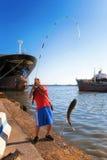 Fiskaremultefiskar Royaltyfri Fotografi