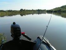 Fiskaren utrustar Arkivfoto