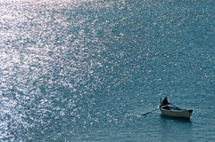 Fiskarerodd Fotografering för Bildbyråer