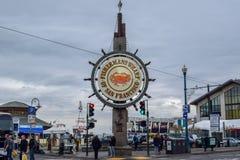Fiskares hamnplats av San Francisco Sign royaltyfri foto