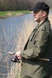 fiskarewaterside royaltyfri fotografi
