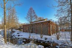 Fiskars村庄在Raseborg,芬兰 免版税库存图片