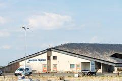 Fiskauktion som bygger Criee du Croisic, Frankrike Royaltyfria Foton