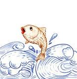 fiskbanhoppning Arkivfoto