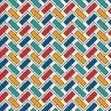 Fiskbensmönstertapet Abstrakt parkettbakgrund Sömlös yttersidamodell med upprepade rektangulära tegelplattor royaltyfri illustrationer