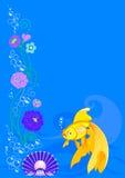 fiskblomma vektor illustrationer