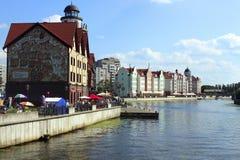 Fiskby i Kaliningrad royaltyfria foton