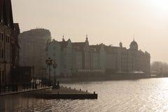 Fiskby i Kaliningrad royaltyfri fotografi