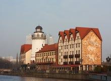 Fiskby i Kaliningrad royaltyfria bilder