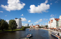 Fiskby i Kaliningraden, Ryssland Royaltyfri Fotografi
