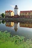 Fiskby. Kaliningrad. Ryssland royaltyfria foton
