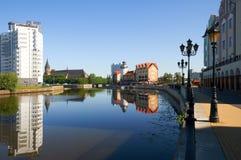 Fiskby. Kaliningrad. Ryssland arkivfoto