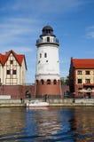 Fiskby. Kaliningrad. Ryssland arkivfoton