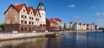 Fiskby. Kaliningrad. Ryssland fotografering för bildbyråer