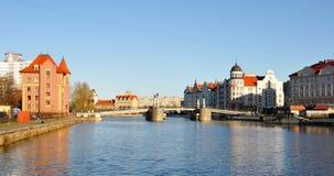 Fiskby. Kaliningrad. Ryssland royaltyfria bilder