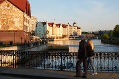Fiskby. Kaliningrad. Ryssland royaltyfri fotografi