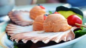Fiskdeg, mellanmål på skalet Royaltyfri Foto