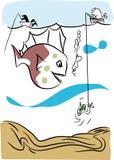 fiske vektor illustrationer