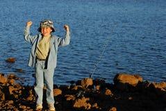 fiske för 20 pojke Royaltyfri Foto