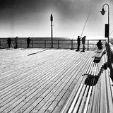 fiske Konstnärlig blick i svartvitt Arkivfoton