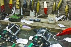 Fiske lockar på skärm Royaltyfri Bild