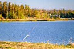 Fiske Pole Royaltyfri Fotografi