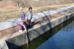 fiske pond3 Arkivbilder