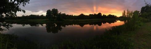 Fiske Texas Sunset Arkivfoto