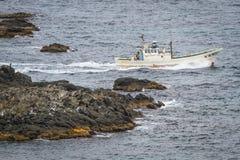 Fiskebåt för Rebun ö royaltyfri foto