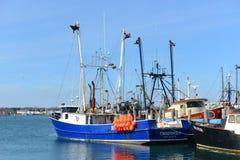 Fiskebåt Narragansett, RI royaltyfria foton