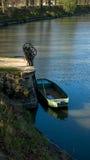 Fiskebåt och metallavrinningen Royaltyfria Foton