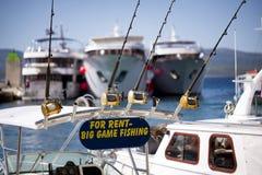 Fiskebåt och utrustning för stor lek för hyra Arkivfoton