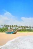 Fiskebåt på det härliga havet Palm Beach Fotografering för Bildbyråer