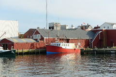Fiskebåt på Gloucester port, Massachusetts royaltyfria bilder