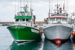 Fiskebåtar Arkivbilder