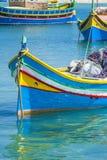 Fiskebåtar i Marsaxlokk Malta Royaltyfria Bilder