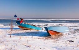 Fiskebåtar i Rewa, nära Gdynia, Polen Royaltyfri Fotografi