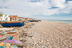 Fiskebåtar i Sompting, västra Sussex, 18.03.2014 Royaltyfria Foton