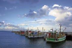 Fiskebåtar i Vishoek Fotografering för Bildbyråer