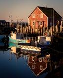 Fiskebåtar Nova Scotia fotografering för bildbyråer