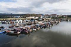 Fiskebåtar på en skeppsdocka royaltyfri foto