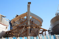 Fiskebåtkonstruktion Arkivbilder