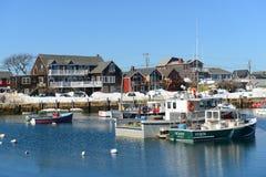 Fiskebåt på Rockport, Massachusetts Royaltyfri Bild