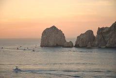 Fiskeflotta som ut heading i Cabo San Lucas Royaltyfri Foto