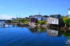Fiskegemenskap av Burgeo Newfoundland Arkivbilder