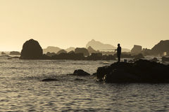 fiskehavssolnedgång fotografering för bildbyråer
